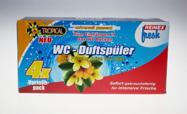 REINEX FRESH WC-Duftspüler 4er-Pack Tropical